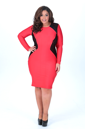 Red and Black Illusion Dress - SOLD OUT