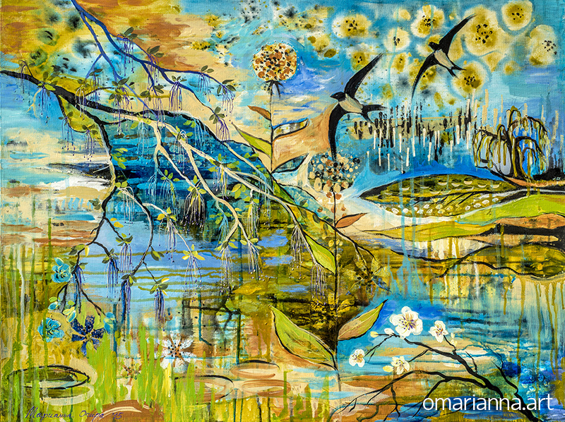 """""""Spring blooming"""" - SOLD"""