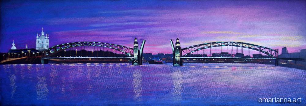 Санкт-Петербург. Мост на закате