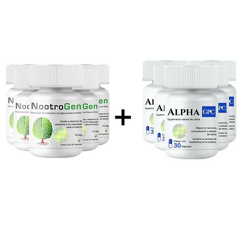 NootroGen 6 + 6 Alpha GPC por $2000