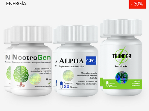 2 NOOTROGEN + 2 ALPHA GPC + 2 THUNDER