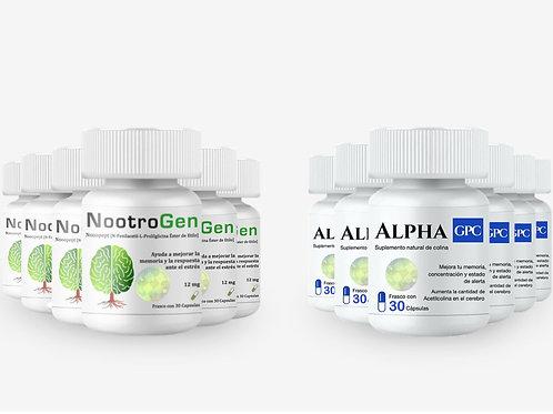 Promoción NootroGen 6 + 6 Alpha GPC