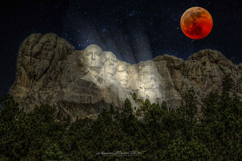 Night at the Rushmore - Eclipsed Blood Moon