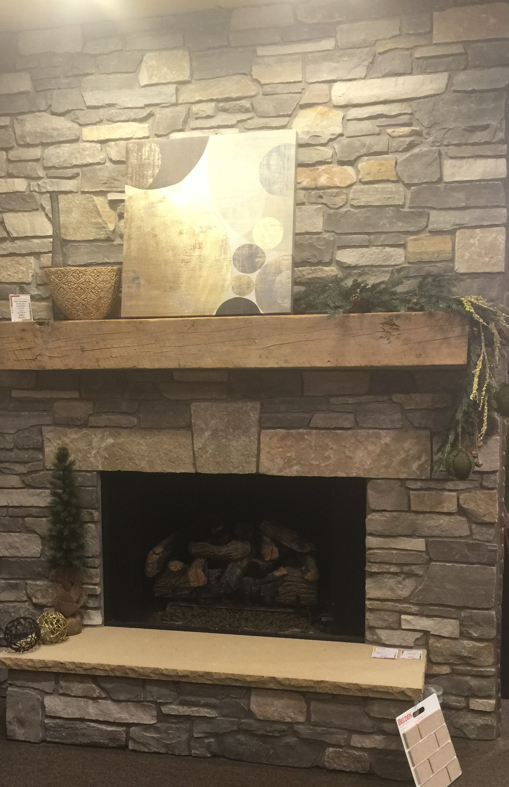 Fireplace,barn wood mantle