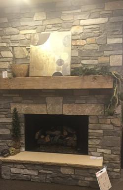 Fireplace,barn wood mantle