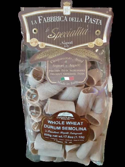La Fabbrica Della Pasta  'e Pacchari Rigati Integrali Whole Wheat Durum Semolina
