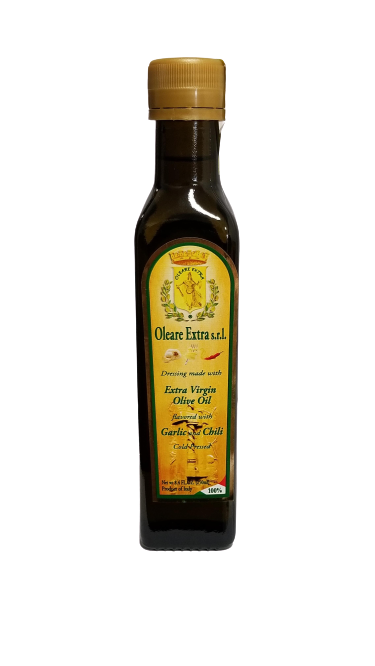 Oleare Extra, s.r.l. Extra Virgin Olive Oil infused with Garlic
