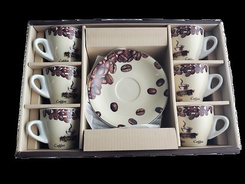 Coffee Beans Espresso Cup Set