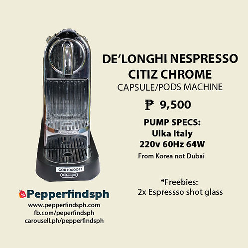 Nespresso Citiz by De'longhi Chrome (Limited edition)