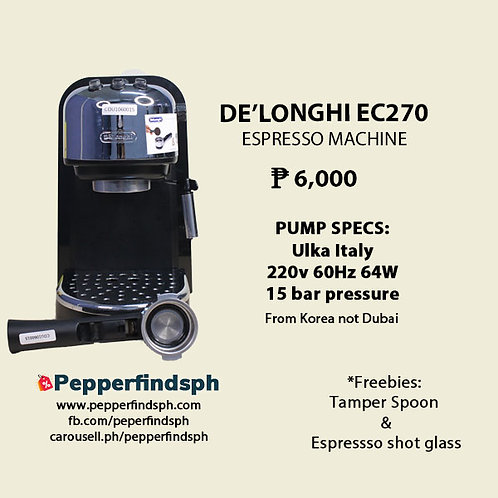 Delonghi espresso machine EC270