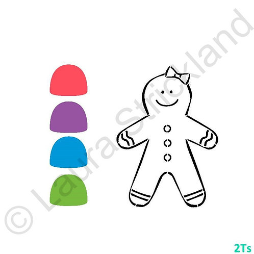 Paint your own Gingerbread girl stencil