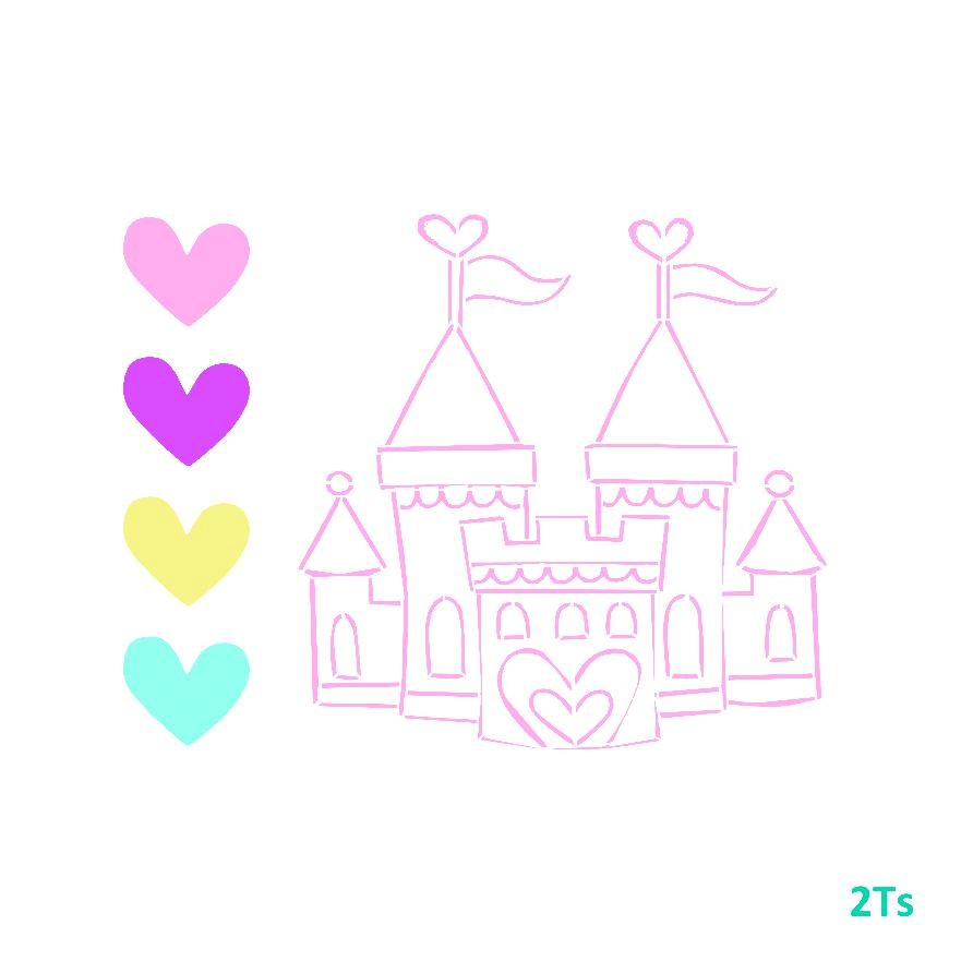 Princess Castle Cookie Cutter CHOOSE YOUR OWN SIZE!
