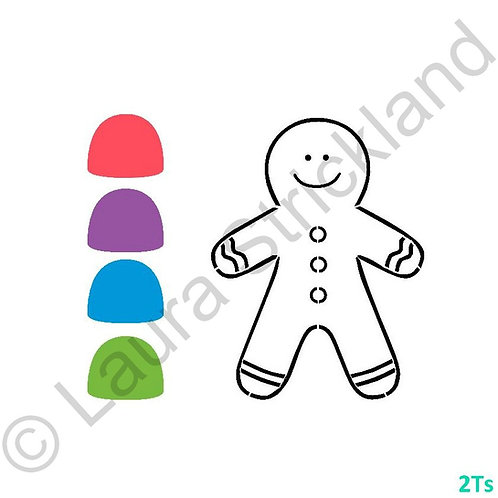 Paint your own Gingerbread boy stencil