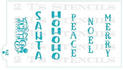 Christmas words I  for the stencil snap