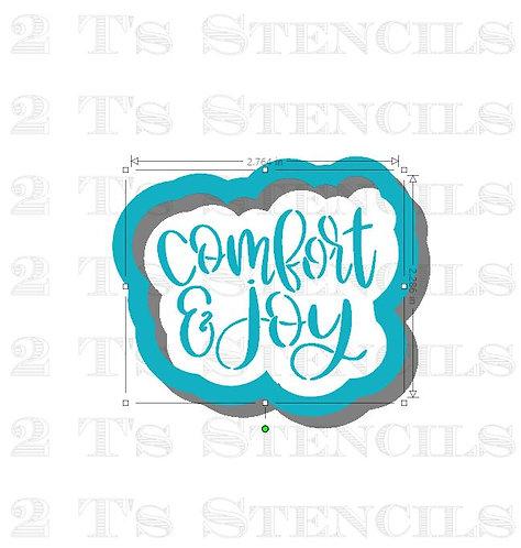 Comfort & joy cutter/stencil set