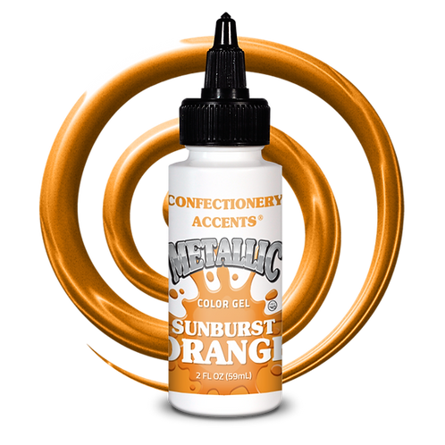 Confectionery Accent ORANGE Gel metallic