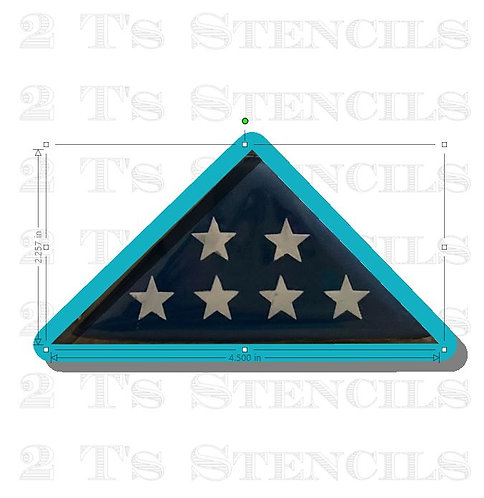Folded Flag cutter/stencil set