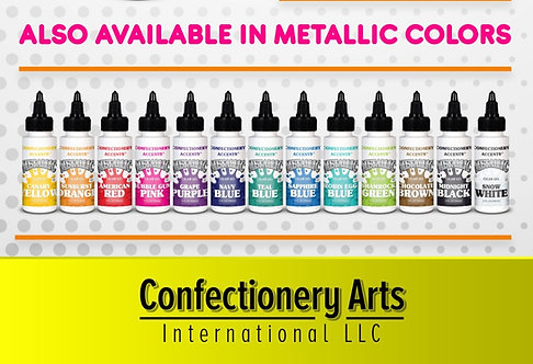 Confectionery Accent Metallic Gel Colors