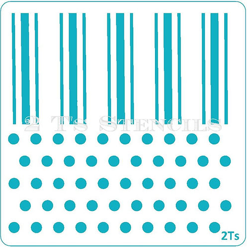 Duo Design 5 triplestripe/med dots