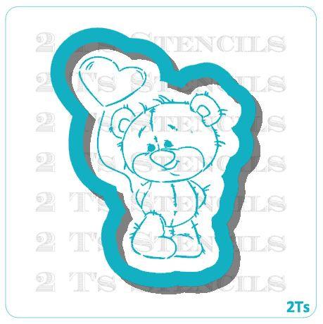 Bear Balloon Cutter/Stencil Combo