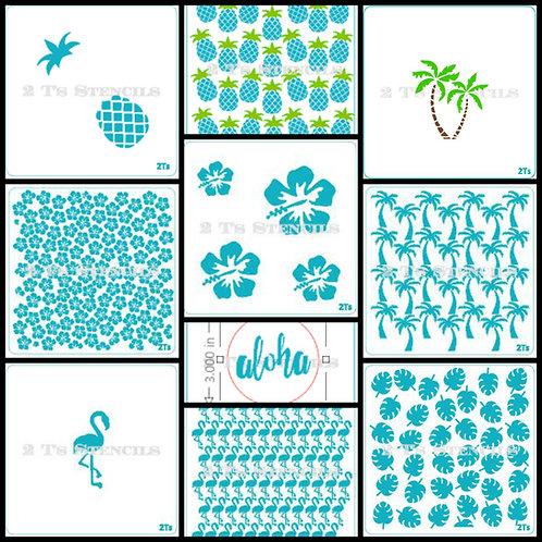 summertime  bundle stencil bundle