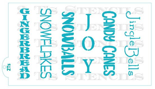 christmas words ii for the stencil snap