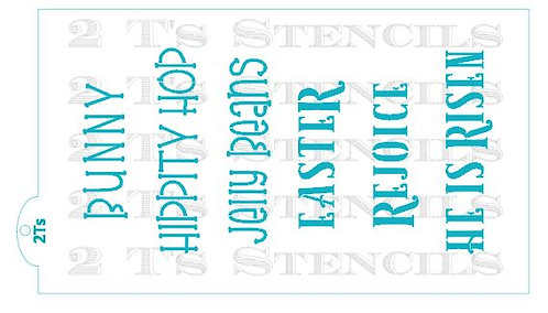 Easter Words for the Stencil Snap
