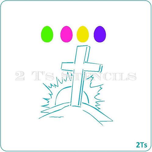 Big PYO Easter Cross with Sun II