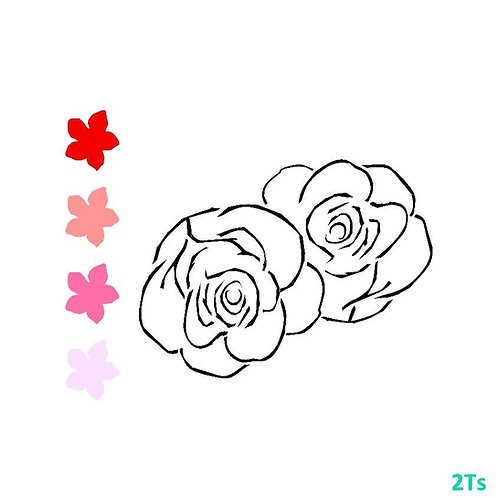 Paint your own Roses Valentine Stencil
