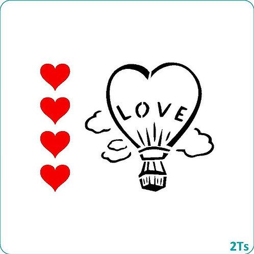 Paint your own Heart Hot Air Ballon