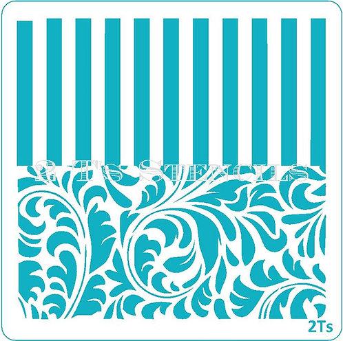 Duo Design 6 swirls3/thick stripe
