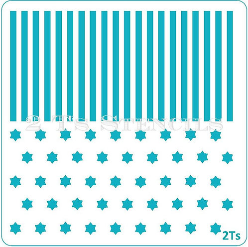 Duo Design 11 star of David/stripes