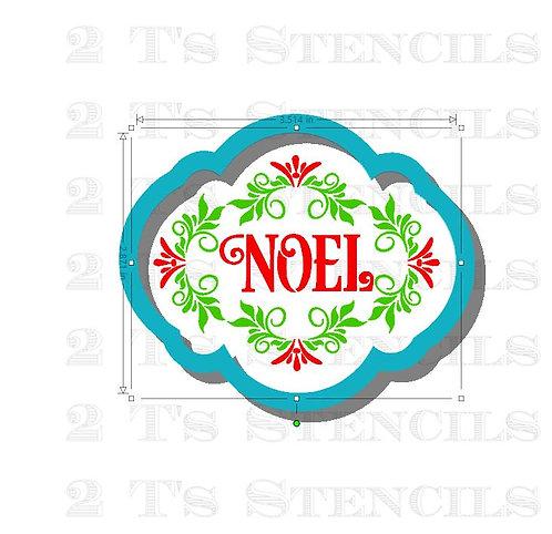 Noel 2 part cutter/stencil set