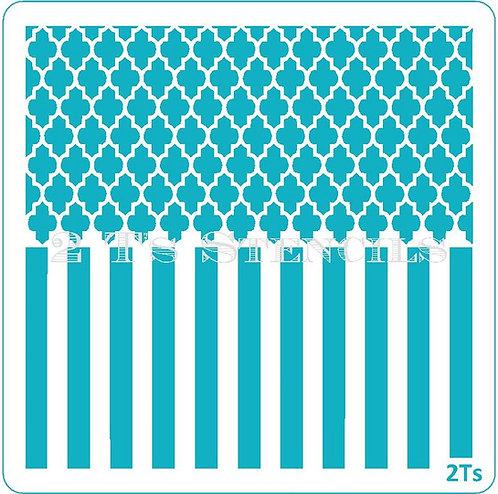 Duo Design 3 quatrafoil/thick stripe