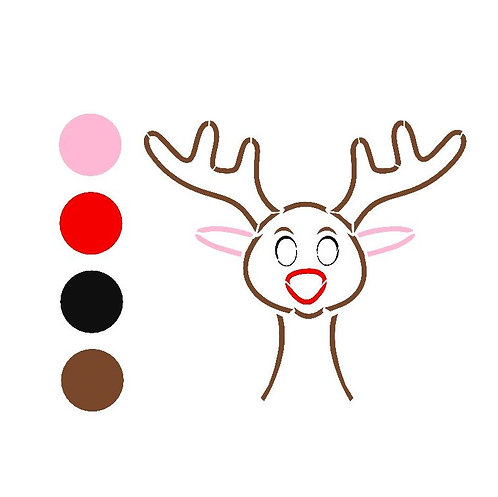 Paint your own RUDOLPH stencil