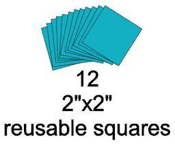 2x2 reusable squares