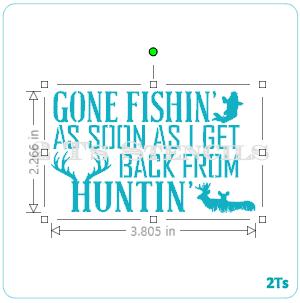 Gone fishing background