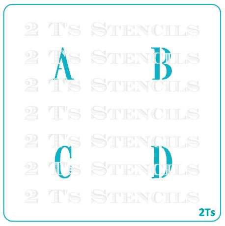 Alphabet/monograms sm 8 pc set