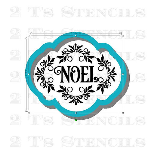 Noel cutter/stencil set
