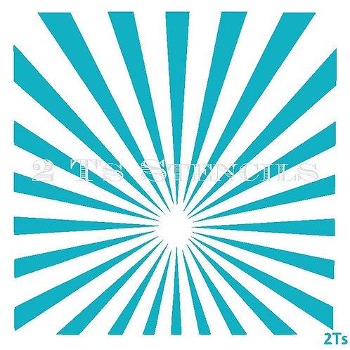 Sunburst off centered
