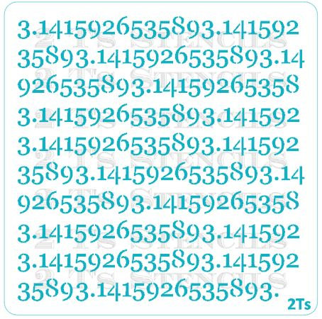 Pi numbers background