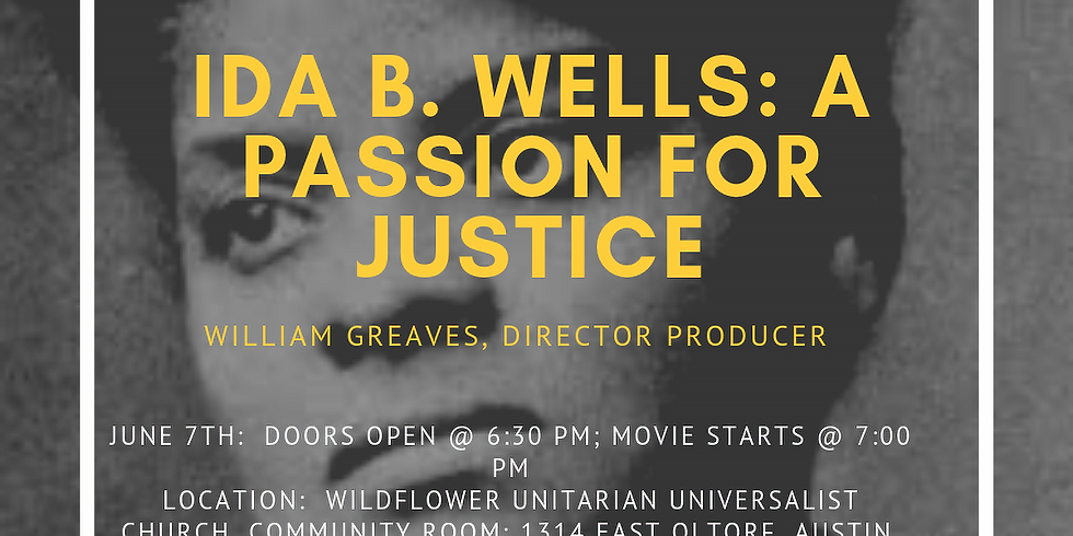 Film Screening/Discussion: Ida B. Wells: A Passion for Justice