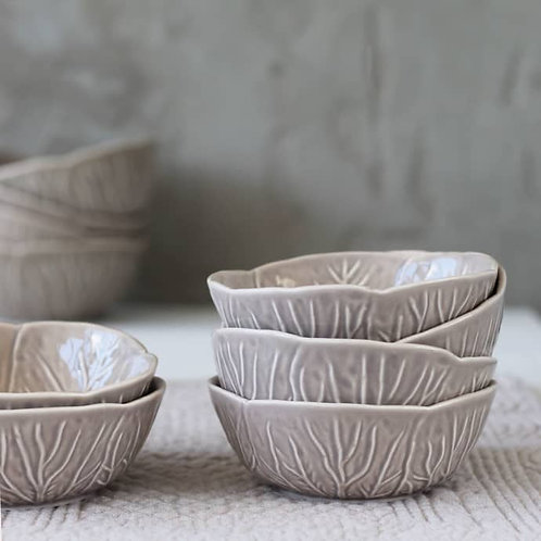 Small Grey and Taupe Cabbage Bowl