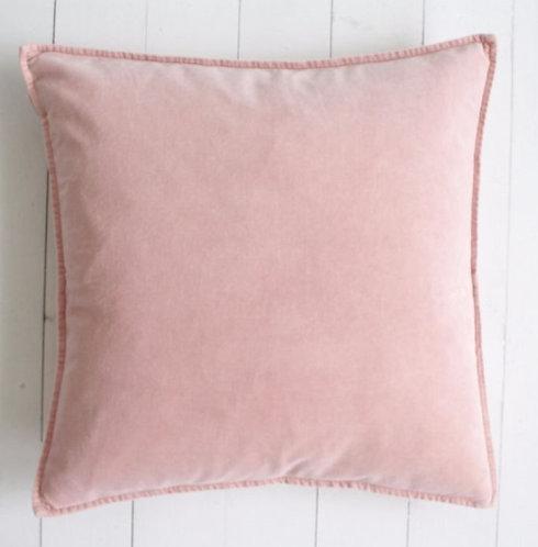 Blush Pink Stonewashed Velvet Cushion