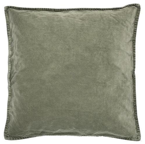 Olive Velvet Cushion