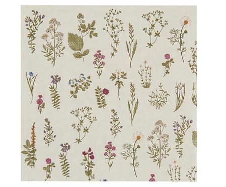 Pack of 50 Floral Paper Napkins