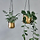 Thumbnail: Small Atsu Brass Hanging Planter