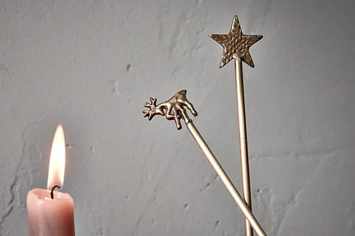 Antique Brass Star Candle Snuffer
