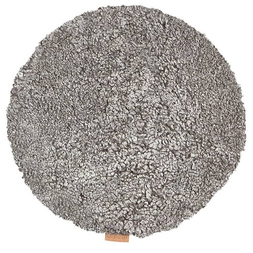 Granite Sheepskin Ida Round Seat Cushion