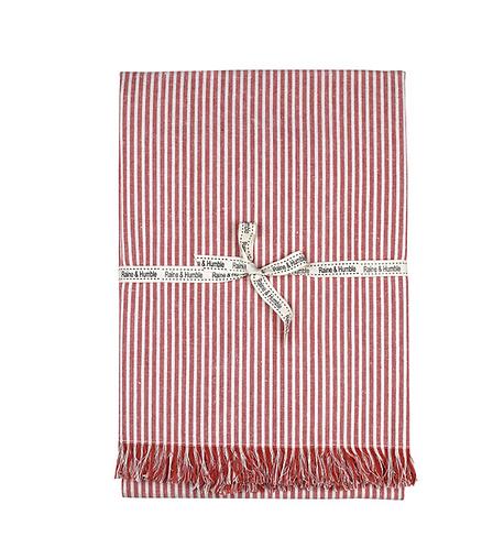 Terracotta Abby Stripe Tablecloth